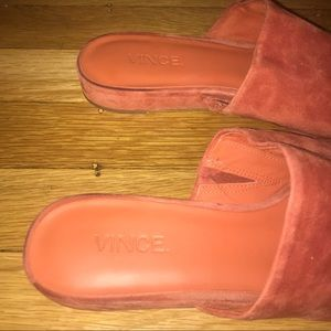 0c214d642 Vince Shoes | Bartley 2 Suede Flat Mule In 75 Orange | Poshmark